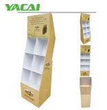 Soporte de visualización de la cartulina acanalada con 5 estantes, soporte de visualización plegable, unidad de visualización derecha del suelo, soporte de visualización de papel