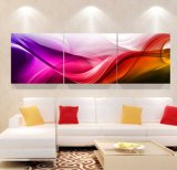 Het Abstracte Olieverfschilderij van het Decor van het Huis van Odern het Kleurrijke Afgedrukte Beeld van de Golf Wind op de Muur voor Woonkamer mc-257