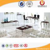 熱い販売のホーム家具の黒の大理石の食堂テーブル(UL-DC666)