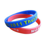 Wristband feito sob encomenda personalizado do silicone do logotipo para presentes