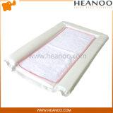Couvre-tapis changeant normal blanc piqué avec la doublure de Portable de Towelling de coton