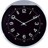 Horloge de mur analogique d'Alumnium de forme ronde de 10 pouces