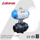 Шариковый клапан PVC с пневматическим приводом