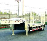 60 de ton lowbed, Aanhangwagen van het Bed van de tri-As de Op zwaar werk berekende Lage