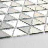 Dreieckige schwarze silberne Mosaik-Fliese-Kristallmosaik-Blätter für Badezimmer