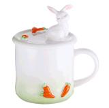 La tasse de café en céramique de thé de vente chaude avec le couvercle a le support de téléphone mobile