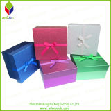 Papel cartón rígido de Navidad caja de regalo con escarcha (MHX0708)