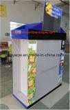 Cmyk Impreso medio exhibición de la plataforma de metal con ganchos para la ropa para mascotas, corrugado cartón Pallet visualización