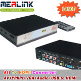 Tudo a HDMI Converter (AV+YPbPr+VGA+Audio+USB a HDMI)
