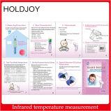 Grand thermomètre infrarouge de non contact clinique professionnel d'affichage à cristaux liquides - front (les relevés de Fahrenheit)
