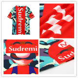 T-shirt 100% de sport d'impression de sublimation de mode de polyester