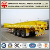 3-Eixos Straight Beam Yellow Vertical Corrugated Sidewall Semi-Trailer