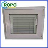 Indicador vitrificado dobro da inclinação e da volta de UPVC/PVC com vidro interno das cortinas