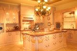 2014年のクルミの純木ベース食器棚Kc019