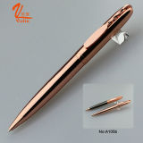 Stylo de boule d'or de Rose de stylo épais en métal de qualité sur la vente