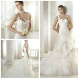 Une robe de mariage de sirène d'épaule (WDQH030)