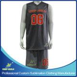 カスタム完全な昇華印刷の優れた単一層バスケットボールのリバーシブルのユニフォーム