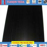Hoja de acero inoxidable de la rayita del Negro-Ti AISI304