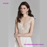 Шнурок Chantilly над сетью a лифа - линией платьем венчания