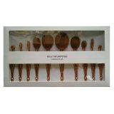 10PCS楕円形のローズの金歯ブラシの人魚の化粧品のツール