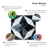 Mozaïek van het Glas van de Tegels van de Muur van de bouw het Decoratieve Materiële Witte en Grijze