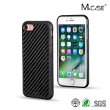 Mais recente chegada Anti Slide Full Sides Fibra de carbono protetora TPU Phone Case PC Cover for iPhone 7