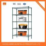 Amj481872b6w 6tier Black Wire Shelving with 4 '' Wheels