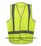 Aviso reflexivo do Waistcoat da veste do aviso da segurança da visibilidade elevada