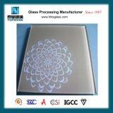 Vidrio de cristal de /Lacquered de la impresión decorativa del Silkscreen para el hotel y los restaurantes