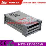 bloc d'alimentation antipluie de l'interpréteur de commandes interactif en aluminium continuel DEL de la tension 12V-300W