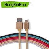 Tipo trenzado de nylon cable del USB de C para el tipo dispositivos de C