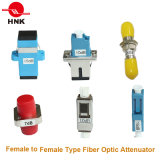 Female Fix Fiber Optic Attenuator에 FC/Sc/St/LC/Mu Singlemode Multimode Male