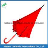 أحمر عصا زهرة شريط لون سيّارة مفتوح سيدات مظلة