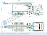 Jp18 de Lichtere Gewicht vrachtwagen-Opgezette Vrachtwagen van de Brand van de Kraan