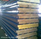 Панели сандвича шерстей утеса термоизоляции строительного материала