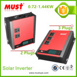 Deben las soluciones solares caseras de alta frecuencia 0.72/1/144kw del inversor solar portable de la talla