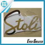 Su etiqueta engomada de encargo hermosa de la insignia del metal de la marca de fábrica