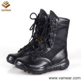 Comfortable Collar (WTB030)를 가진 가득 차있는 Leather Black Military Tactical Boots