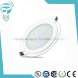 o vidro 18W ilumina para baixo a luz de painel do diodo emissor de luz