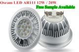 Lámpara de Dimmable LED AR111 del bulbo del LED