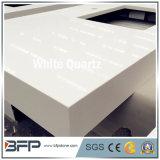 Cuarzo blanco/amarillento/gris claro puro para las tapas de la barra con la superficie Polished