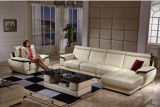 Leather moderno Sofa Sectional Sofa con la L Shape