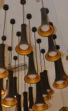 Hängende Lampen-Licht des Form-modernes Aluminiumleuchter-LED für Gaststätte