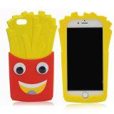 3D bricht Pommes-Fritessilikon-Telefon-Kasten für SE 5s (XSF-025) der Samsung-Galaxie- abS6 S6edge S5