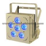 O diodo emissor de luz a pilhas do rádio DMX ilumina 6X12W RGBWA+UV 6 in-1