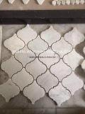 Mattonelle di mosaico di marmo bianche personalizzate di nuovo stile per la parete