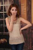 Gilet tricoté par étincelle pure de couleur de femmes pour l'été
