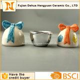 Céramique Forme Oeufs de Pâques Petit Bonbons Jar pour les cadeaux de Pâques