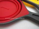 Мы и Kitchenware силикона надувательства Европ чашки горячего складные измеряя