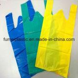 sacchetti materiali della maglietta dell'HDPE di 32cm x di 20+5cm X 20mic